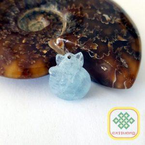 Mặt Hồ Ly đá Aquamarine – MDD094