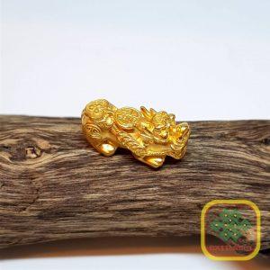 Tỳ hưu cõng gậy Như ý Vàng 24K9999 ( Size trung ) – VB043