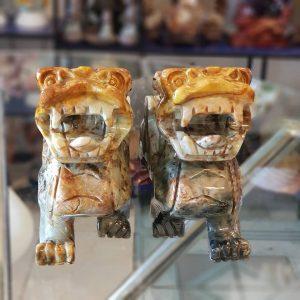 Cặp tỳ hưu đá Caxedon Thiên Nhiên – THD07