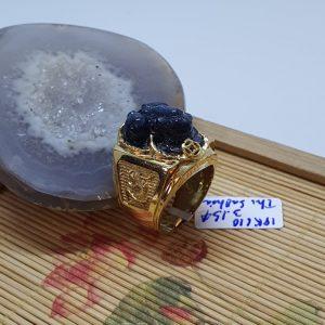 Nhẫn Vàng Nam Tỳ Hưu Saphia Xanh Hero Thiên Nhiên – VPT001
