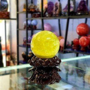 Quả cầu Thạch Anh Vàng Thiên Nhiên Đk 8,9cm – DTB220 (Sao chép)