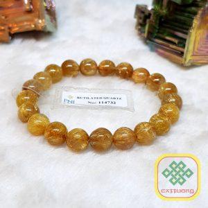 Vòng Tay Đá Thạch Anh Tóc Vàng Thiên Nhiên VIP Size 10li – VTD294 (Sao chép)