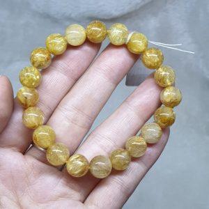 Vòng Tay Đá Thạch Anh Tóc Vàng Thiên Nhiên A Size 10li – VTD297 (Sao chép)