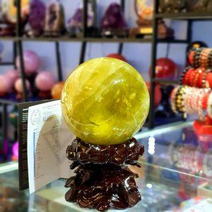 Quả cầu Thạch Anh Vàng Thiên Nhiên Đk 13.4cm – DTB219 (Sao chép)